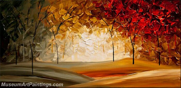 Modern Abstract Wall Art Painting Abstract Tree Landscape Paintings MTL051