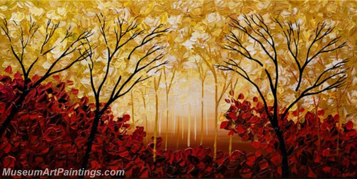 Modern Abstract Wall Art Painting Abstract Tree Landscape Paintings MTL054