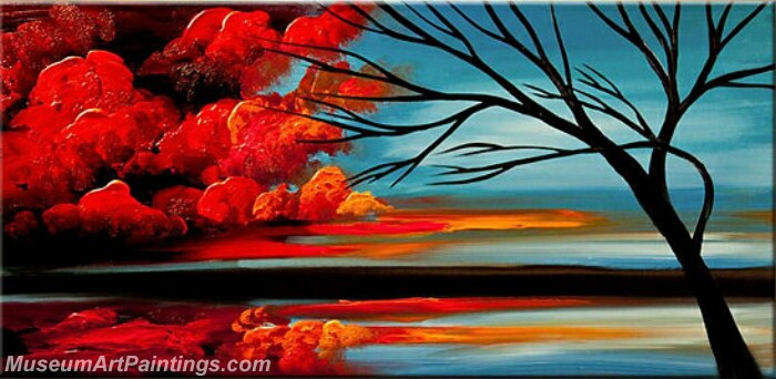 Modern Abstract Wall Art Painting Abstract Tree Landscape Paintings MTL055
