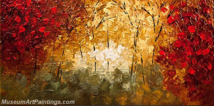 Modern Abstract Wall Art Painting Abstract Tree Landscape Paintings MTL056