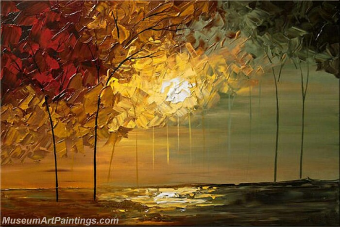 Modern Abstract Wall Art Painting Abstract Tree Landscape Paintings MTL057