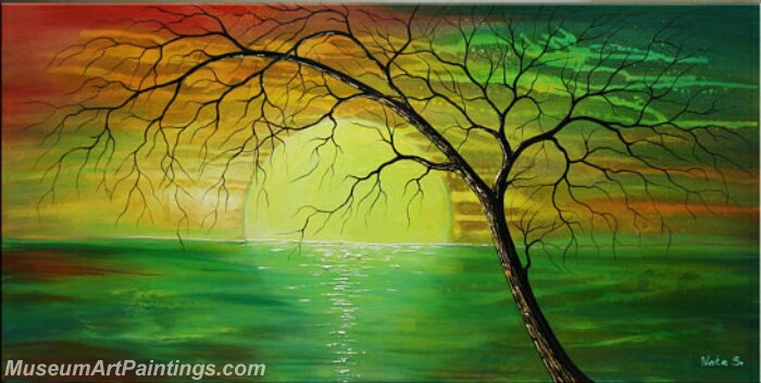 Modern Abstract Wall Art Painting Abstract Tree Landscape Paintings ...