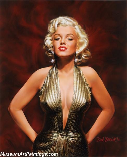 Modern Pinup Art Paintings Marilyn Monroe