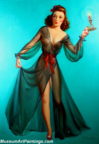 Modern Pinup Art Paintings Oooh is there a man in the House