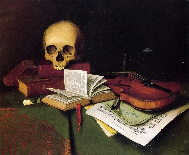 Mortality and Immortality by William Michael Harnett