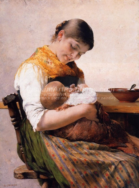 Mother and Child by George Jakobides