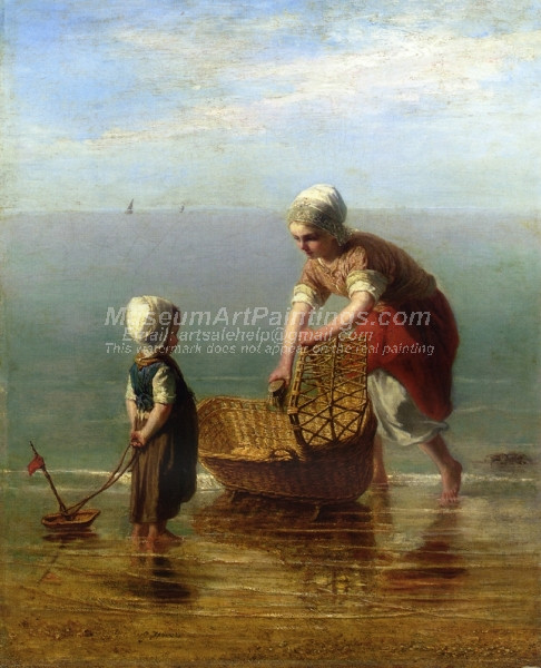 Mother and Child by the Sea by Jozef Israels