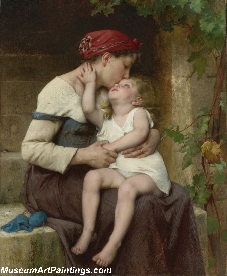 Mother with Child by Leon Jean Basile Perrault