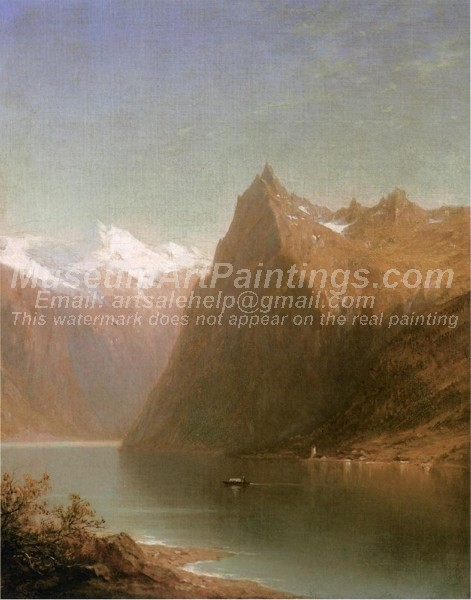 Mountain Lake Scene Painting