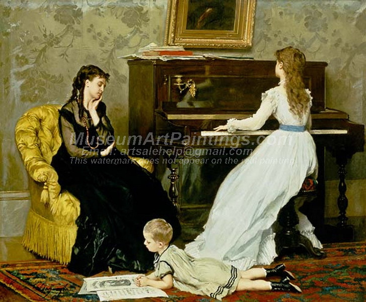 Music Hour by Gustave Leonard de Jonghe
