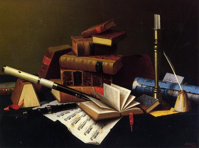 Music and Literature by William Michael Harnett