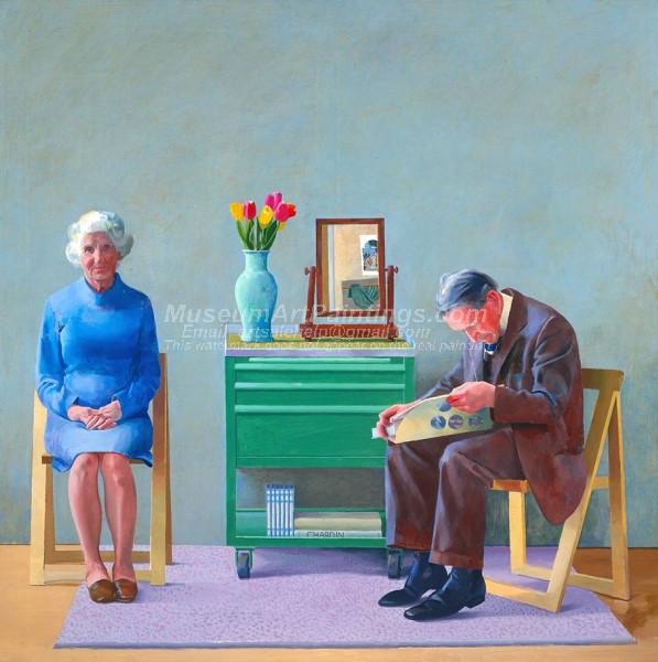 My Parents by David Hockney