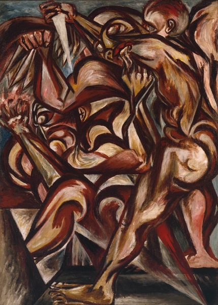 Naked Man with Knife by Jackson Pollock