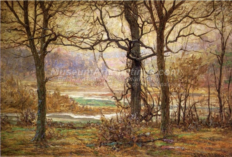 Natural Landscape Oil Paintings Autumn on the Whitewater