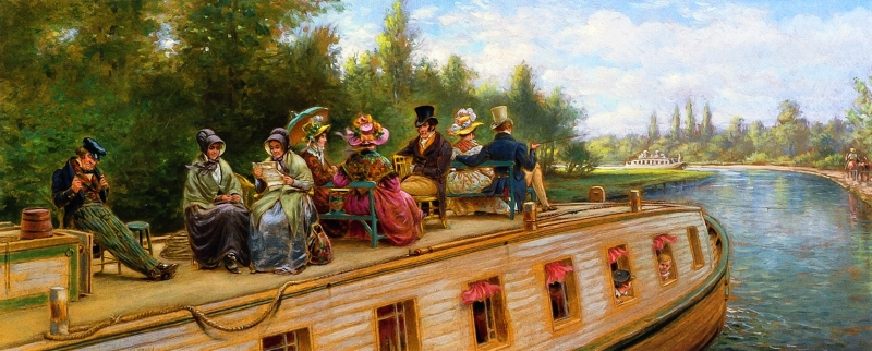 Nearing the Bend by Edward Lamson Henry