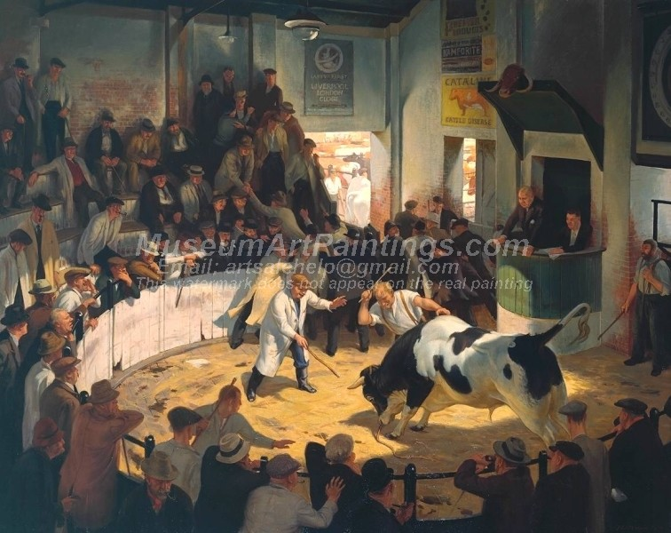 Oil Paintings Commotion in the Cattle Ring
