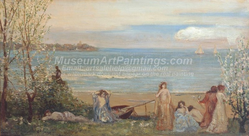 Oil Paintings Spring by the Sea