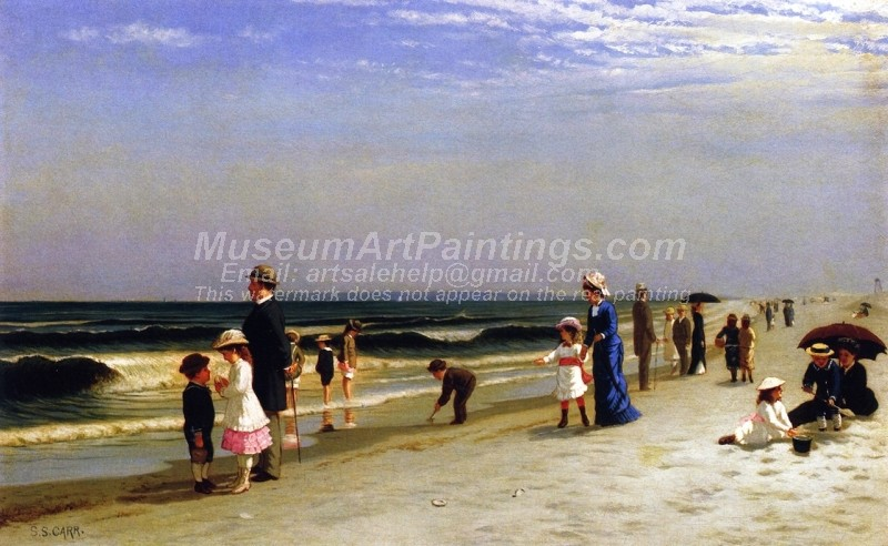 On the Beach at Coney Island Painting