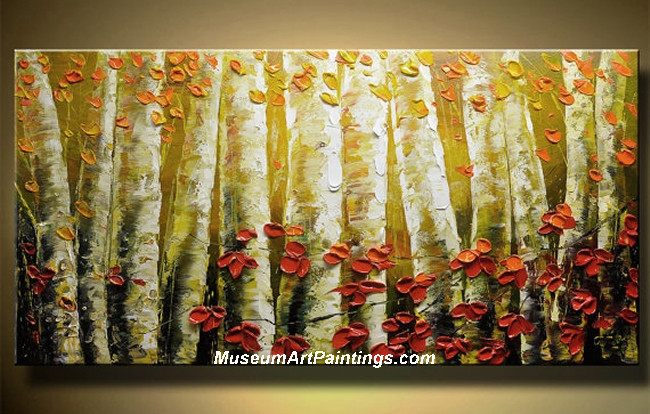 Palette Knife Oil Painting Landscape Tree 002