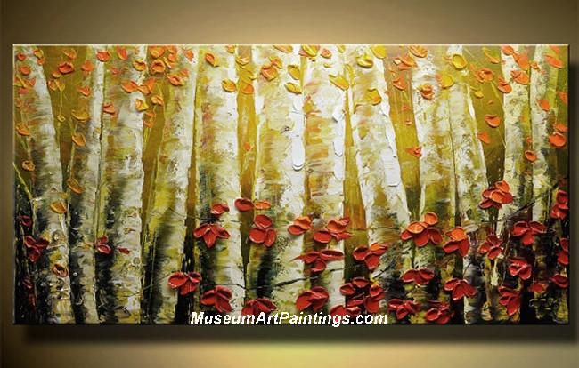 Palette Knife Oil Painting Landscape Tree 002