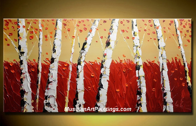 Palette Knife Oil Painting Landscape Tree 003