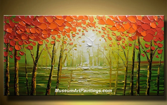 Palette Knife Oil Painting Landscape Tree 004