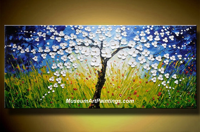 Palette Knife Oil Painting Landscape Tree 007