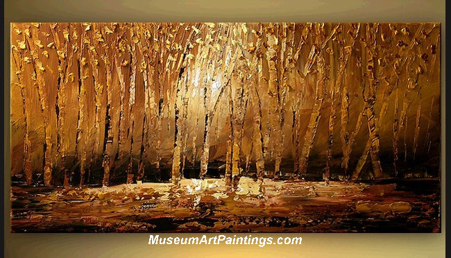 Palette Knife Oil Painting Landscape Tree 016