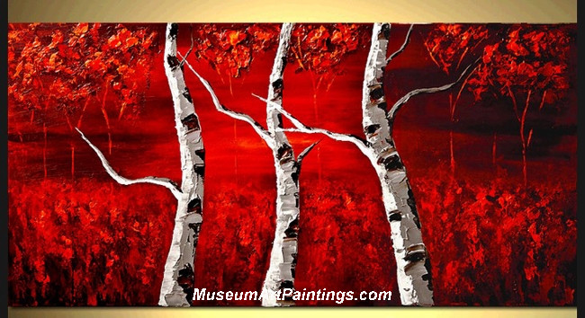 Palette Knife Oil Painting Landscape Tree 017