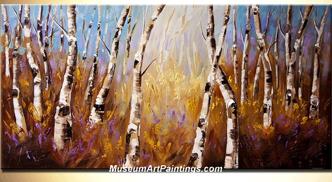 Palette Knife Oil Painting Landscape Tree 022