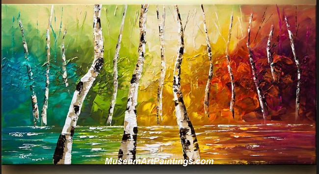 Palette Knife Oil Painting Landscape Tree 025
