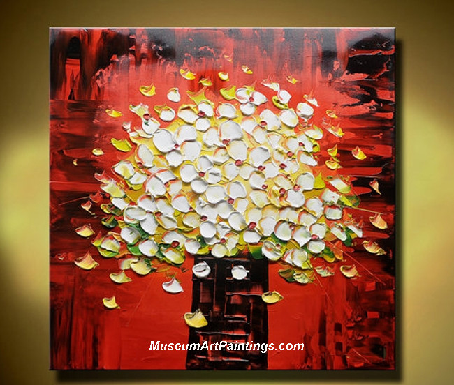 Palette Knife Painting Abstract Flower 001