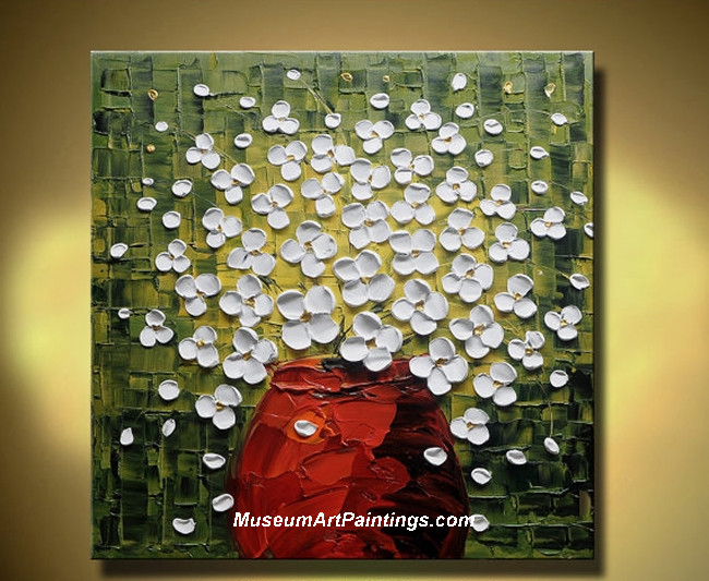 Palette Knife Painting Abstract Flower 002