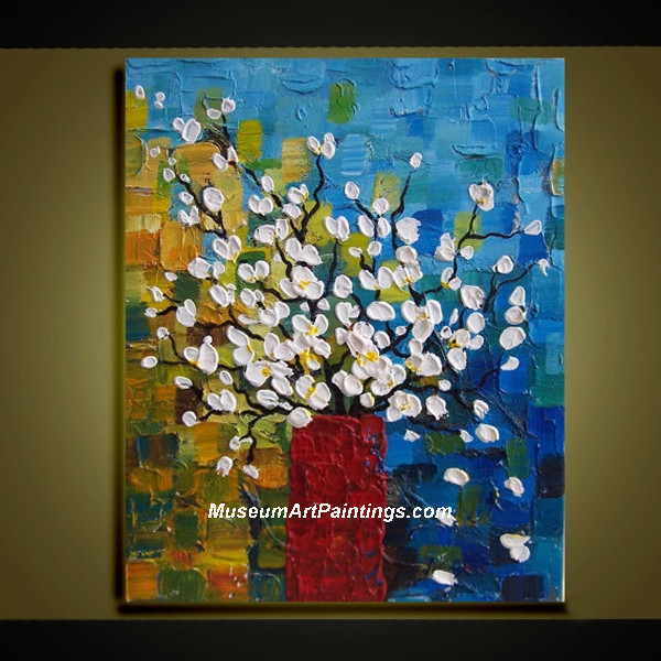 Palette Knife Painting Abstract Flower 003