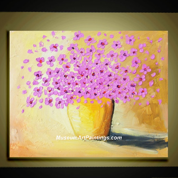Palette Knife Painting Abstract Flower 005