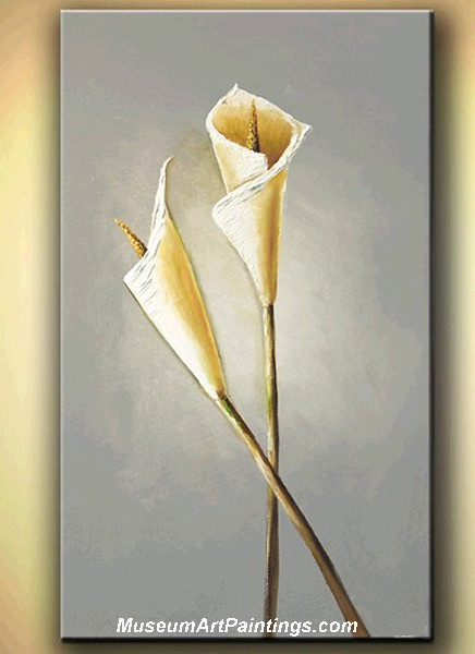 Palette Knife Painting Abstract Flower 032
