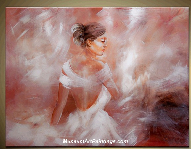 Palette Knife Painting Abstract Woman 006