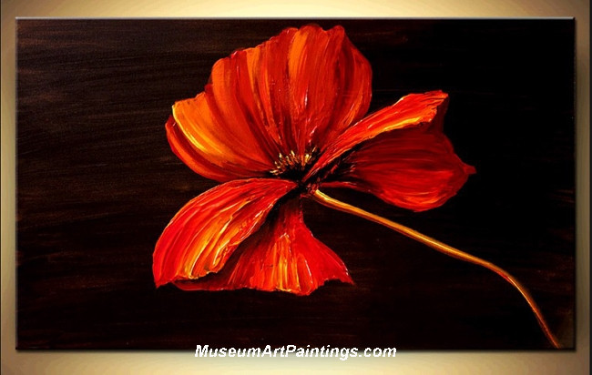 Palette Knife Painting Flower 010