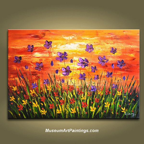Palette Knife Painting Flower 019