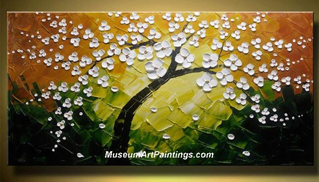 Palette Knife Painting Flower Tree 009