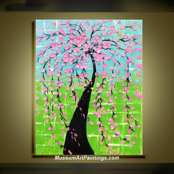 Palette Knife Painting Flower Tree 010