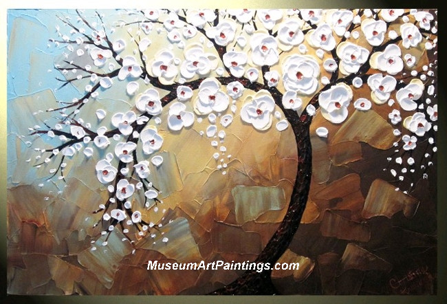 Palette Knife Painting Flower Tree 011
