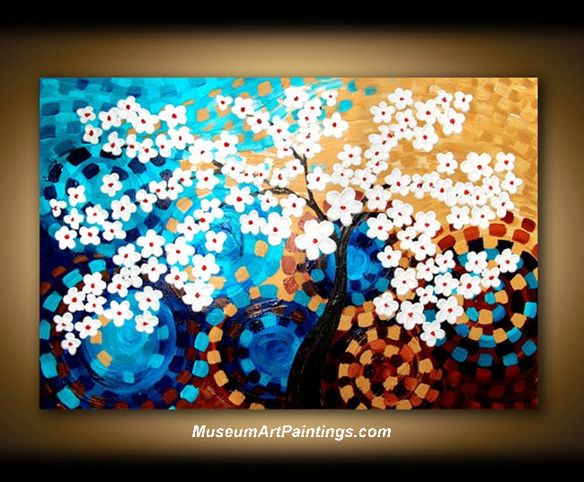 Palette Knife Painting Flower Tree 012