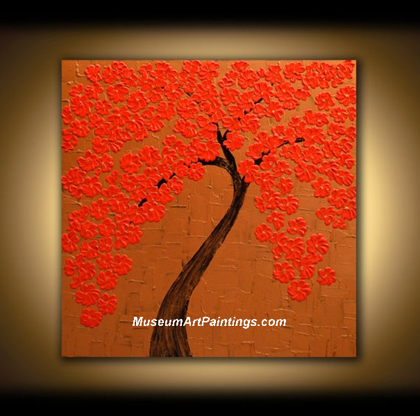 Palette Knife Painting Flower Tree 013