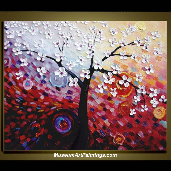 Palette Knife Painting Flower Tree 014