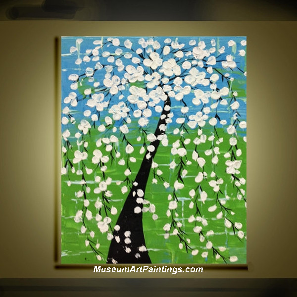 Palette Knife Painting Flower Tree 015