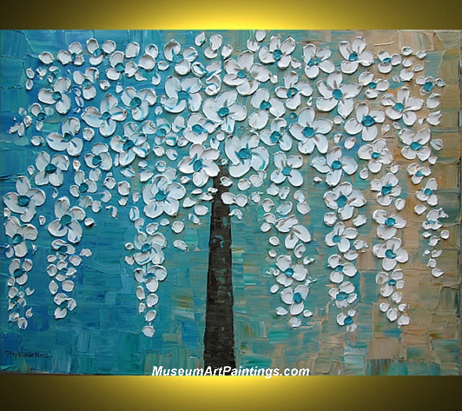 Palette Knife Painting Flower Tree 016