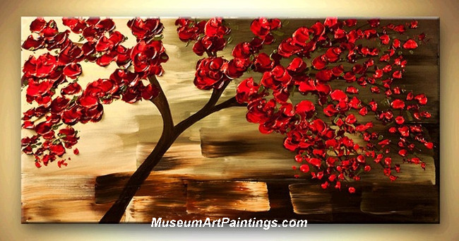Palette Knife Painting Flower Tree 019