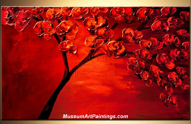 Palette Knife Painting Flower Tree 020