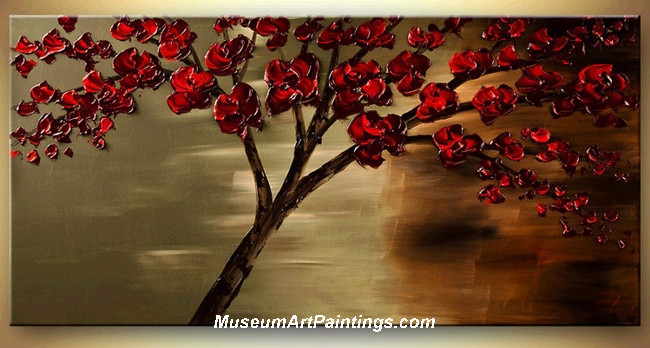 Palette Knife Painting Flower Tree 022